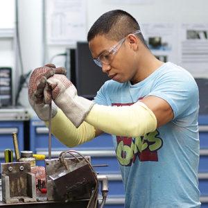 Melvin Demiar working