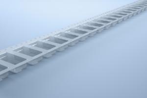 Polystyrene antistatic transparent carrier tape